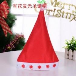 Hópelyhek - 2020 karácsonyi Santa Hat sapka ünnepek piros ruha Xmas Party LED világít kalap AU