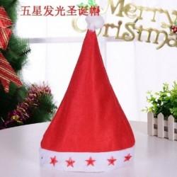Csillag - 2020 karácsonyi Santa Hat sapka ünnepek piros ruha Xmas Party LED világít kalap AU