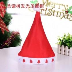 Fa - 2020 karácsonyi Santa Hat sapka ünnepek piros ruha Xmas Party LED világít kalap AU