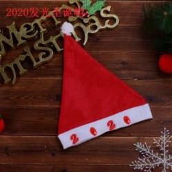 2020 - 2020 karácsonyi Santa Hat sapka ünnepek piros ruha Xmas Party LED világít kalap AU