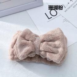 Coral Pink - Gyógyfürdő zuhanyzós sminklemosó arc kozmetikai fejpánt elasztikus hajszalag hajpánt USA