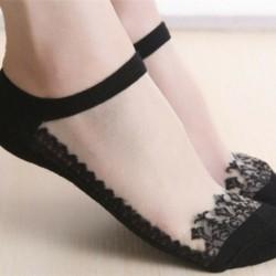3 - Vintage női fodros íj necc boka magas zokni háló csipke hal háló rövid zokni