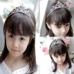 Nincs szín - Lányok Strassz Kristály Tiara Hajszalag Gyerek menyasszonyi hercegnő bál korona fejpánt