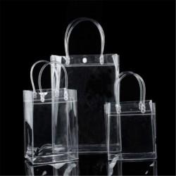 13 * 19 * 8cm - Hordozható átlátszó vinil átlátszó Tote Gft táska táska pénztárca váll kézitáska PVC US