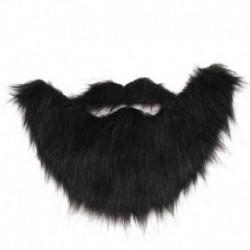 Fekete - Halloween jelmez hamis szakáll bajusz jelmez arcszőr party Cosplay UK