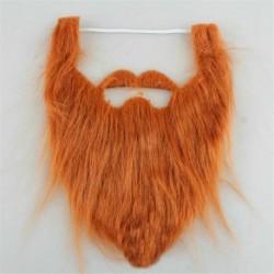 Barna - Halloween jelmez hamis szakáll bajusz jelmez arcszőr party Cosplay UK