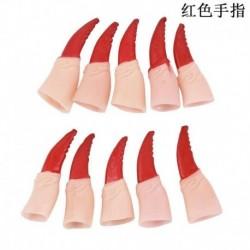Halloween jelmez - 10db Hosszú piros körmös ujj