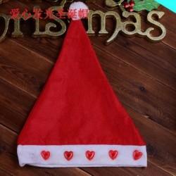 Szív - Karácsonyi santa kalap sapka ünnepek piros fehér jelmez party LED kicsi