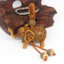 * 15 Elefánt kulcstartó - Kreatív fémötvözet kulcstartó kulcstartó unisex kulcstartó iránytű kulcstartó gyűrű
