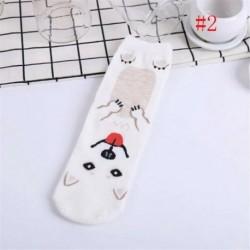 fehér - Divat női 3D nyomtatott állat alkalmi zokni Unisex aranyos kutya boka magas zokni USA