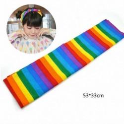 Nincs szín - Rainbow Bandana Gay Pride Stripe fejpánt fejkendő LMBT fesztivál haj tartozék