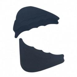 Fekete - Elülső láb párna fél udvaron nagy szivacs cipő hosszú felső dugó toe elülső töltőanyag CA