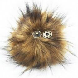 Természetes - 10 cm-es mosómedve szőrös bolyhos Pom Pom labda kalapos ruházat táska cipők kulcstartó barkácsolás