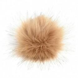 Khaki - 10 cm-es mosómedve szőrös bolyhos Pom Pom labda kalapos ruházat táska cipők kulcstartó barkácsolás