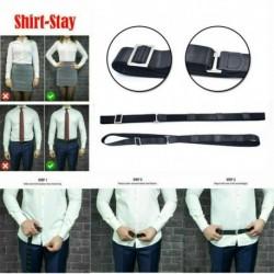 Nincs szín - Fekete állítható közeli ing-tartózkodás A legjobb ing megőrzi a férfiak behúzott ingét övvel
