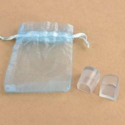 M - 2db női magas sarkú szett PVC védőburkolat átlátszó sarokvédő AU