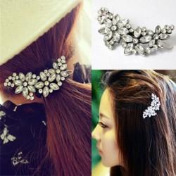 Nincs szín - Menyasszonyi esküvői virágkristály strasszos fejpánt hajcsat fésűs gyémánt Diamante JP