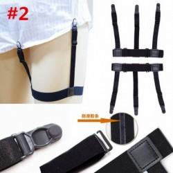 * 2 - 2db-os férfi rugalmas tartók tartó ing harisnyakötő csúszásgátló reteszelő bilincsek egyenruhában USA-ban