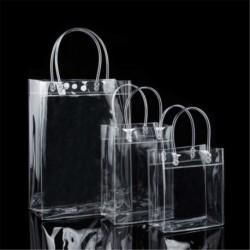 17 * 23 * 7 cm - Hordozható átlátszó átlátszó Tote Gft táska pénztárca válltáska PVC méret S / M / L