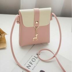 Rózsaszín - Női bőr válltáska Lady Cross Body Bag Tote Messenger Satchel pénztárca