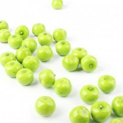 30db Zöld Mini alma Műanyag Mesterséges Gyümölcs
