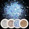 Nincs szín - 8 dobozos Nail Art Glitter flitterek Pelyhek Sparkly 3D Hexagon UV Gel Decor Kit UK