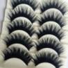 Nincs szín - 5 pár kék   fekete hosszú, vastag kereszt műszempilla kézzel készített szempillaspirál