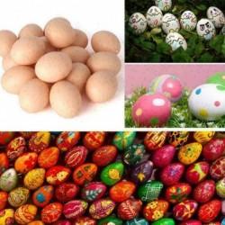 1 db - 1/5 / 10db Húsvéti szimuláció tojásdíszek Gyermek tojások játékok-dekoráció festett Z6W2