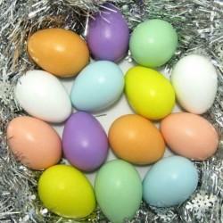 20db - Műanyag húsvéti tojás csomag üres húsvéti vadászat tojás válogatott játék 6 * 4 cm-es színek H1B5