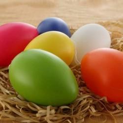 20db - Műanyag húsvéti tojás csomag Üres húsvéti vadászat tojás válogatott játék színek 6 * 4 cm Új