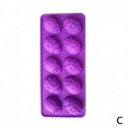 Lila - 10 adagos Húsvéti tojás alakú szilikon sütőforma