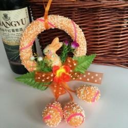 narancssárga - Hab húsvéti tojás nyuszi nyúl lógó húsvéti kézműves lakberendezési party szép