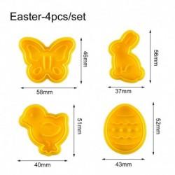 Húsvéti formák - 4db-os szett - Sütemény formázó - kiszúró forma - A verzió