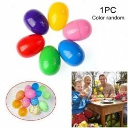 6db - 6/12 Műanyag töltő húsvéti tojás tölthető tojásvadászat díszítés üreges csemegék hozzáadása