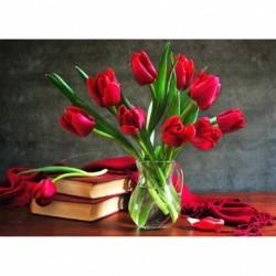 25 * Blume - c1031 30 * 40cm - Teljes körű fúró 5D strasszos kép barkácsolás virágok gyémántfestés