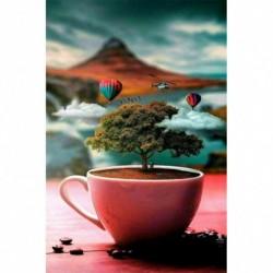 Nincs szín - 5D barkácsolás gyémántfestés készletek fán a csésze teljes körű fúró kézműves művészet