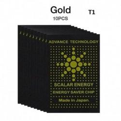 Arany - 10x sugárzás elleni védelem matrica EMF EMR energiatakarékos telefon laptop USA