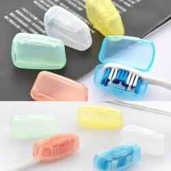 Nincs szín - 5PCS hordozható fogkefefej borító tartó utazási túrázáshoz kemping kefe sapka tok