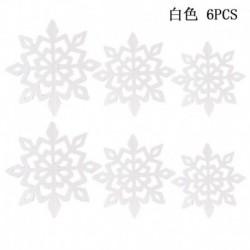fehér - 6db hópelyhek függő dekorációk karácsonyi party medál karácsony díszek dekoráció