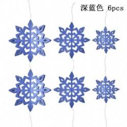 Kék - 6db hópelyhek függő dekorációk karácsonyi party medál karácsony díszek dekoráció