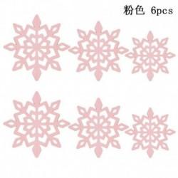Rózsaszín - 6db hópelyhek függő dekorációk karácsonyi party medál karácsony díszek dekoráció
