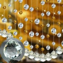 Nincs szín - 10db átlátszó üvegkristályos lámpa medálok csillárcsepp csiszolt gyöngy lakberendezés