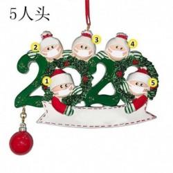 Az 5 fős családtag - 2020 Boldog karácsonyt lógó díszcsalád, személyre szabott díszek karácsonyi dekoráció