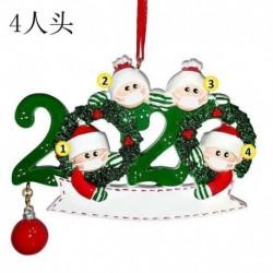 4 tagú családtag - 2020 Boldog karácsonyt lógó díszcsalád, személyre szabott díszek karácsonyi dekoráció