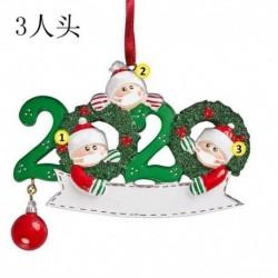 3 tagú családtag - 2020 Boldog karácsonyt lógó díszcsalád, személyre szabott díszek karácsonyi dekoráció