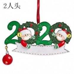 2 tagú családtag - 2020 Boldog karácsonyt lógó díszcsalád, személyre szabott díszek karácsonyi dekoráció