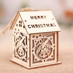Nagy Harang - Led könnyű fa ház aranyos karácsonyfa függő díszek ünnepi dekoráció amerikai