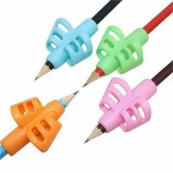 Nincs szín - 1db kétujjas markolatú szilikon babatanuló íróeszköz gyerekíró tolltartó
