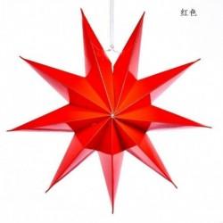 Piros - Karácsonyi 3D nagy csillag függő lámpaernyő papír lámpás mennyezeti ablak dekoráció Egyesült Királyságban