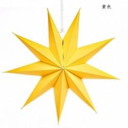 Sárga - Karácsonyi 3D nagy csillag függő lámpaernyő papír lámpás mennyezeti ablak dekoráció Egyesült Királyságban